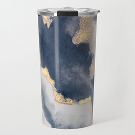 All that Shimmers – Gold + Navy Geode Travel Mug