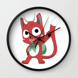 Happy The Red Wall Clock
