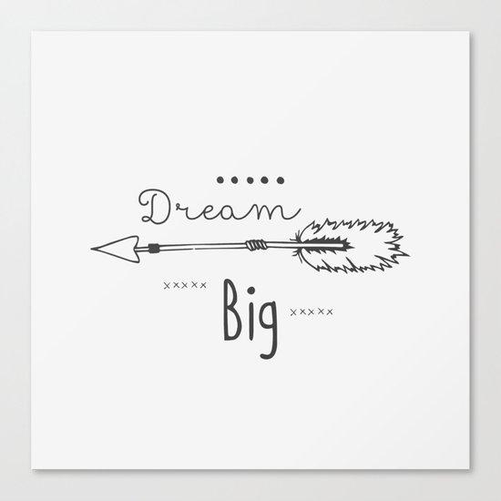 Dream big gray Canvas Print