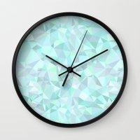 mint Wall Clocks featuring Mint by Kimsa