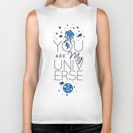 You are my universe crumpled Biker Tank