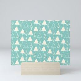 Christmas Tree Blue Mini Art Print