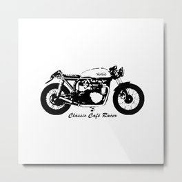 HAPPY BIKING TO ALL CLASSIC CAFE RACER BIKERS,GIFT WRAPPED FOR  2021 Metal Print