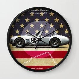 Laguna Seca Racetrack Vintage Wall Clock
