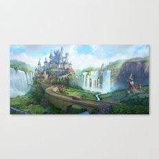 epic fantasy castle  Canvas Print