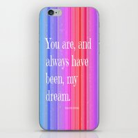 notebook iPhone & iPod Skins featuring Nicholas Sparks Notebook quote by Laura Santeler