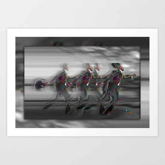Speeding Art Print