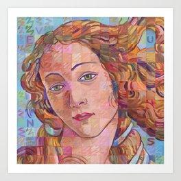 Variations On Botticelli's Venus – No. 1 Art Print