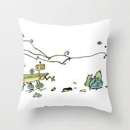 Mars Curiosity rover Throw Pillow