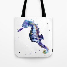 Seahorse painting, seahorse, seahorse illustration, beach lover gift, ocean lover art Tote Bag