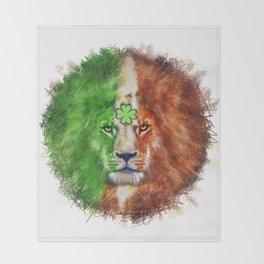 St. Patrick's Day Irish Lion Throw Blanket