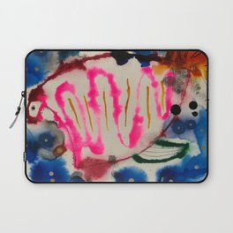 Abstract Neon Angler Fish Laptop Sleeve