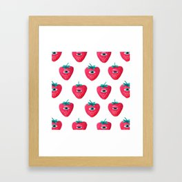 Cry Berry Pattern Framed Art Print