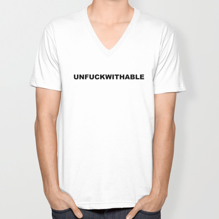 4a8b2c28 unfuckwithable offensive t-shirts Unisex V-Neck by diamondwoolford ...