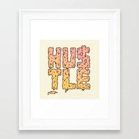 hustle Framed Art Prints featuring HUSTLE by Wesley Bird