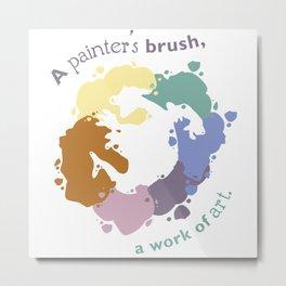 Painter's Brush Metal Print