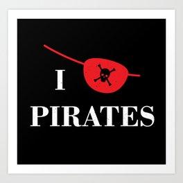 I heart Pirates Art Print