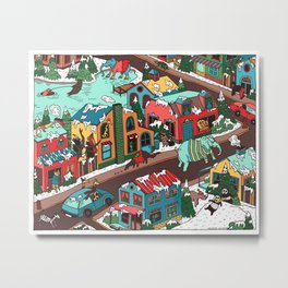 This Place is a Zoo! Metal Print
