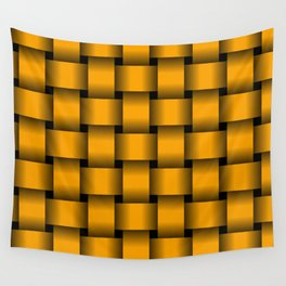 Large Orange Weave Wall Tapestry