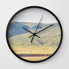 Four O'Clock Train Wall Clock