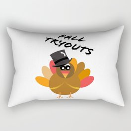 Fall Tryouts - Thanksgiving - Gobble Gobble - Turkey Day Rectangular Pillow