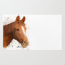 Brown and White Horse Rug