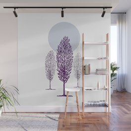 Cold Trees Wall Mural