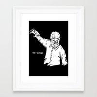 werewolf Framed Art Prints featuring Werewolf by Pedro Santasmarinas