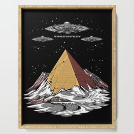 Antarctica Alien Egyptian Pyramids UFO Conspiracy Serving Tray