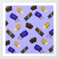 junk food Art Prints featuring Junk Food by Danielle Davis