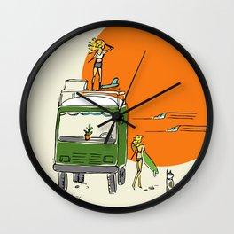 Green Native Adventure Wall Clock