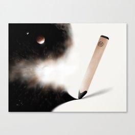 Pencil Gold Canvas Print