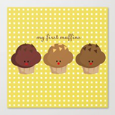 my first muffins Canvas Print