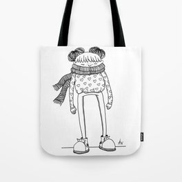 Betty in black and white Tote Bag