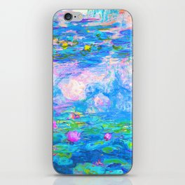 Monet Water Lilies - Pastel Fluro iPhone Skin
