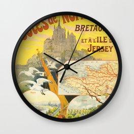vintage trtavel poster Wall Clock