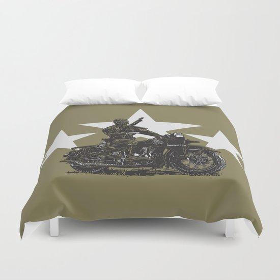 Military Harley Duvet Cover