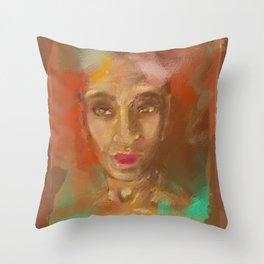 Portrait of a Lady , Golden Eye Throw Pillow