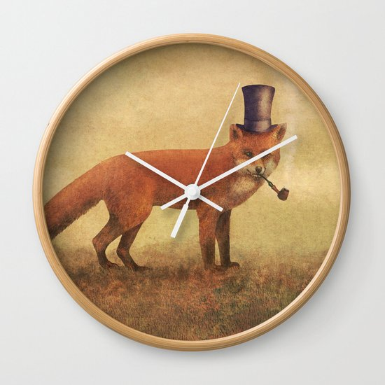 Crazy Like a Fox  Wall Clock