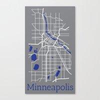 minneapolis Canvas Prints featuring Minneapolis by Daniel P.