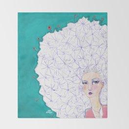 Puffball by Jane Davenport Throw Blanket