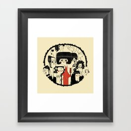 Crowd Framed Art Print