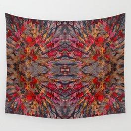 Tara leaves geometry III Wall Tapestry