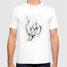 Swans MEDIUM White Mens Fitted Tee