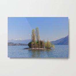 Romantic Island of Love on Lake Maggiore in Italy Metal Print