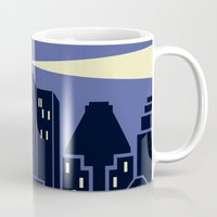 montreal Mugs featuring Montreal Skyline by Wheel of Fortune