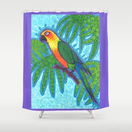 Ronnell's Parrot Shower Curtain