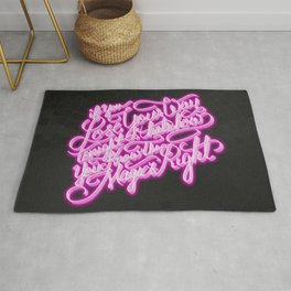 Daft Punk - Doin' It Right - Lettering Rug