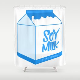 soy milk Shower Curtain