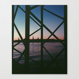 Framed sunset Canvas Print